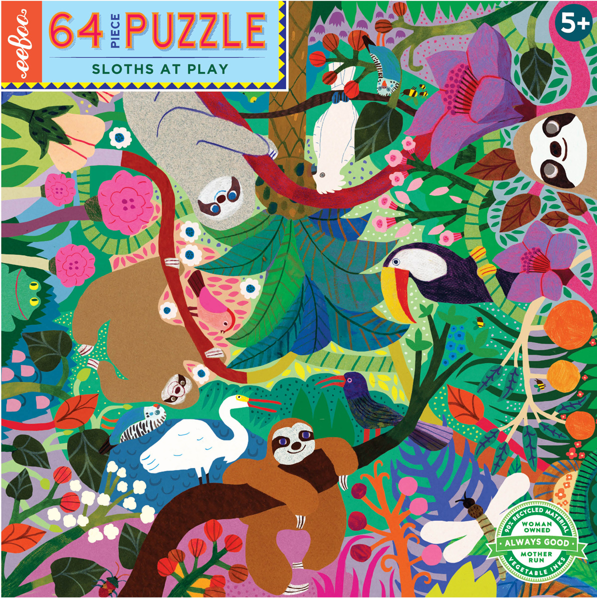 Sloths at Play Animals Jigsaw Puzzle