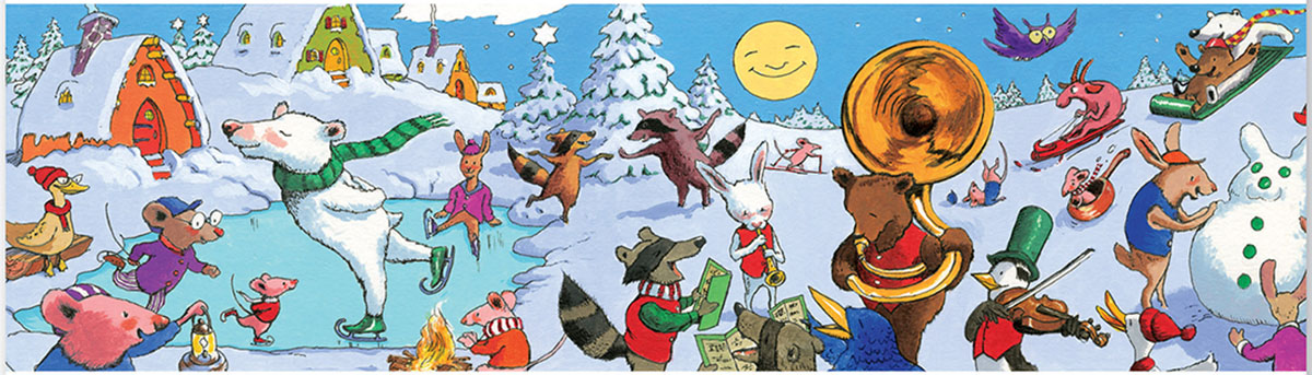 Snow Party Animals Jigsaw Puzzle