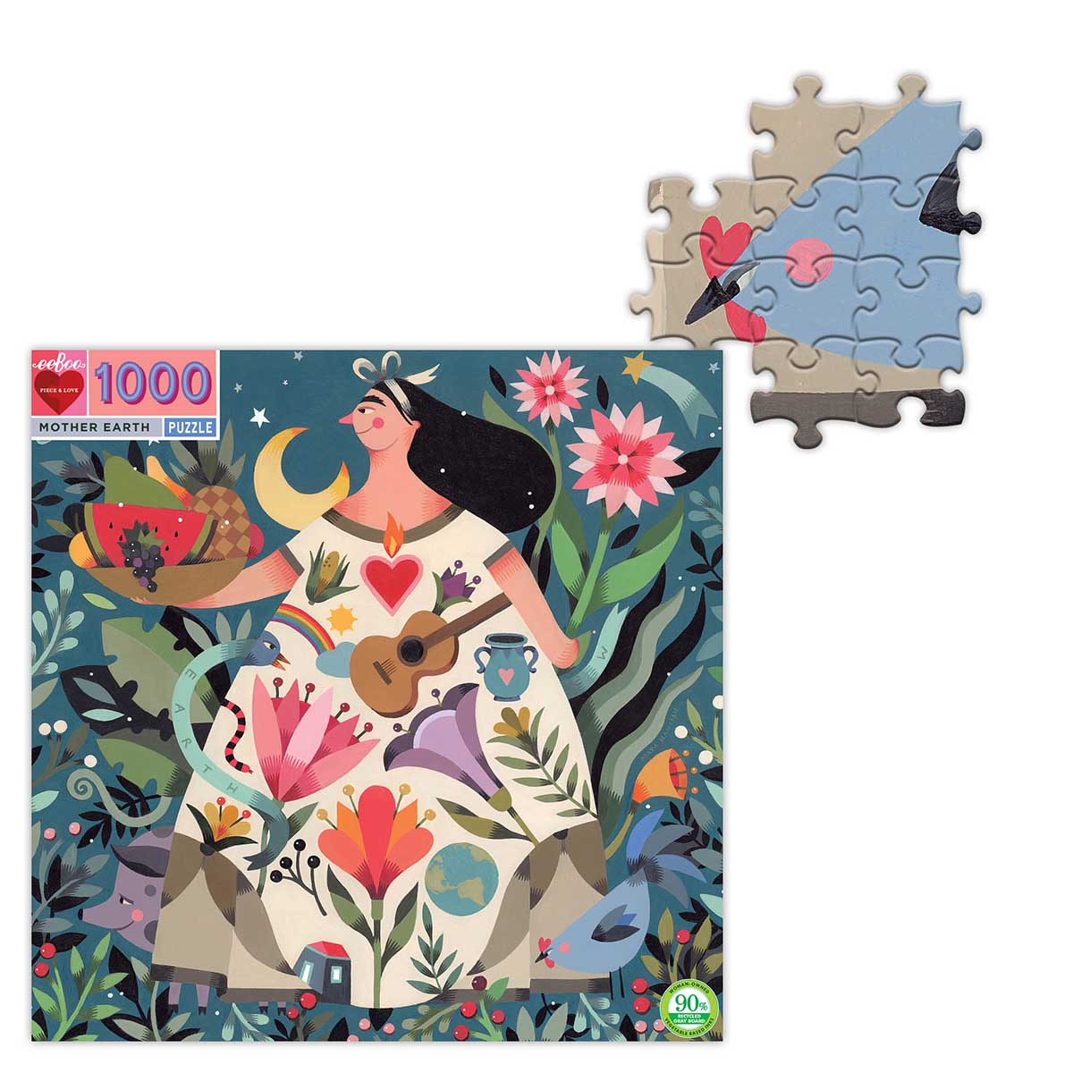 Mother Earth Flowers Jigsaw Puzzle