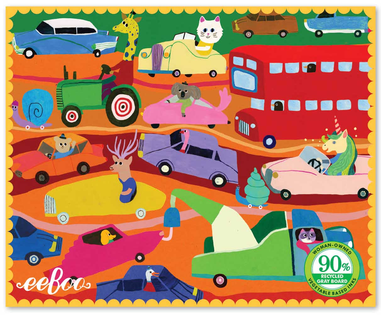 Miniature Traffic in the City Animals Jigsaw Puzzle