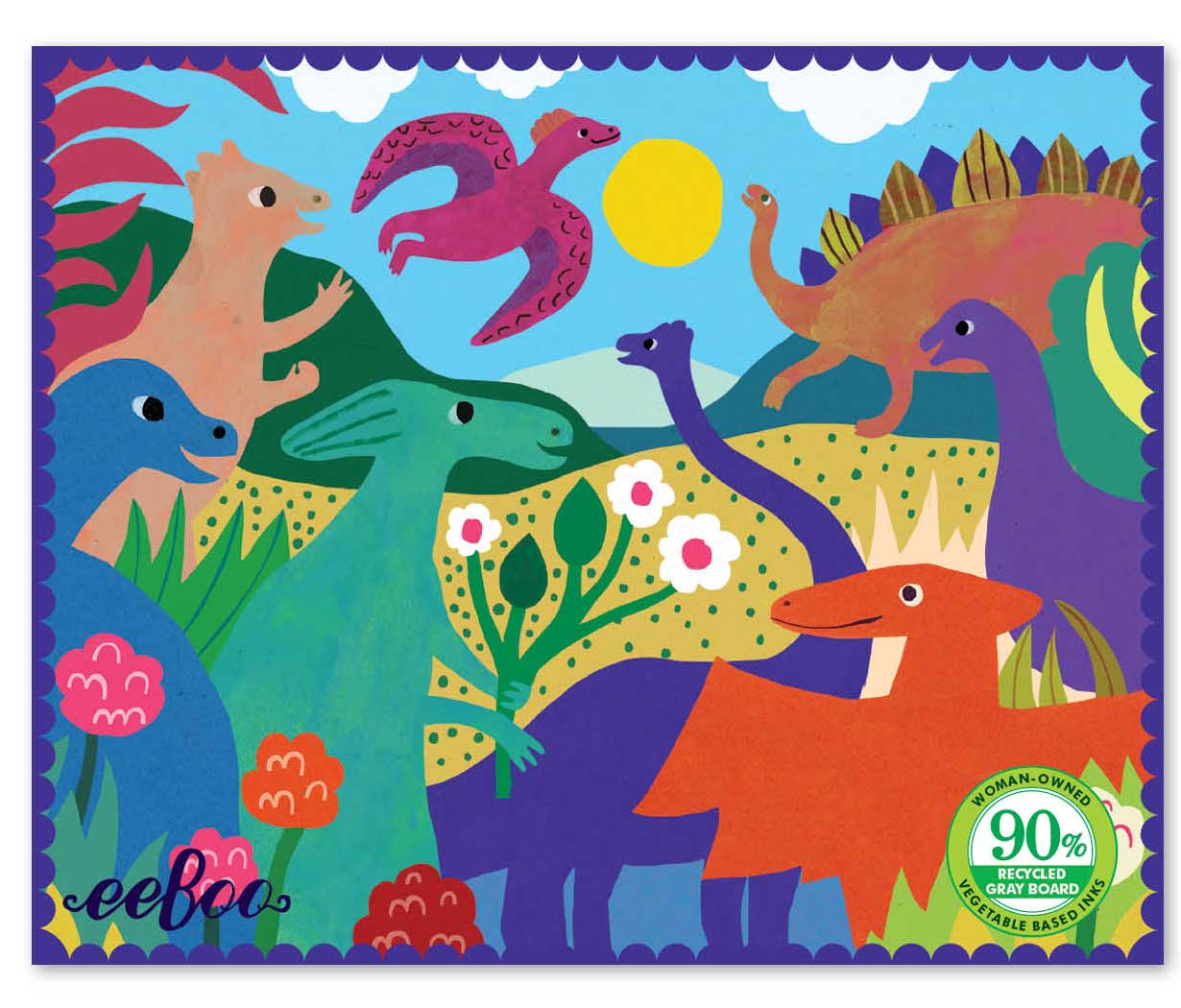 Miniature Dinosaurs in the Park Dinosaurs Jigsaw Puzzle