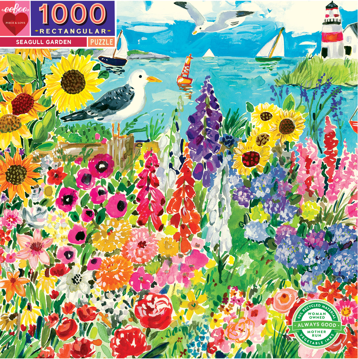 Seagull Garden Beach Jigsaw Puzzle