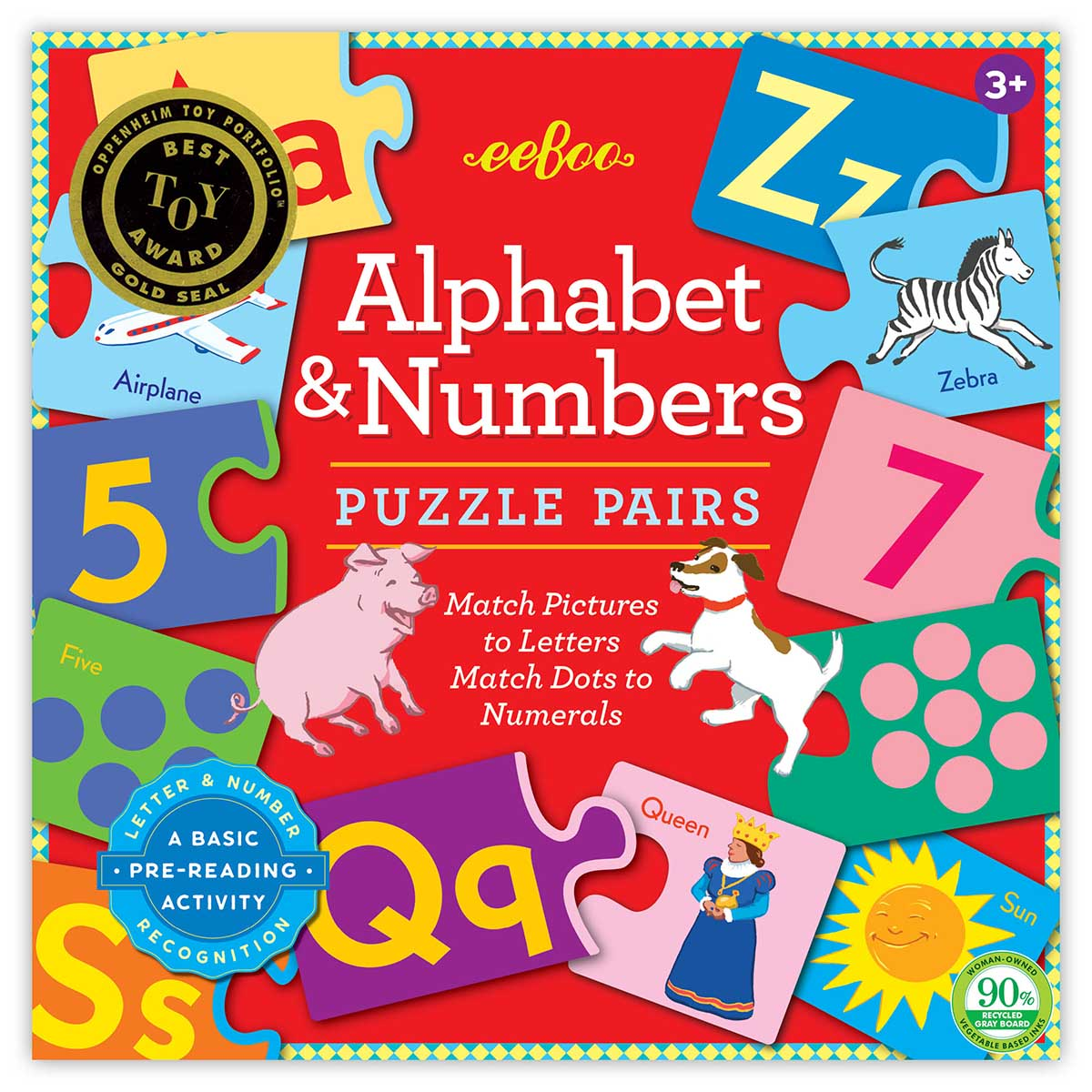 Alphabet & Numbers Educational Children's Puzzles