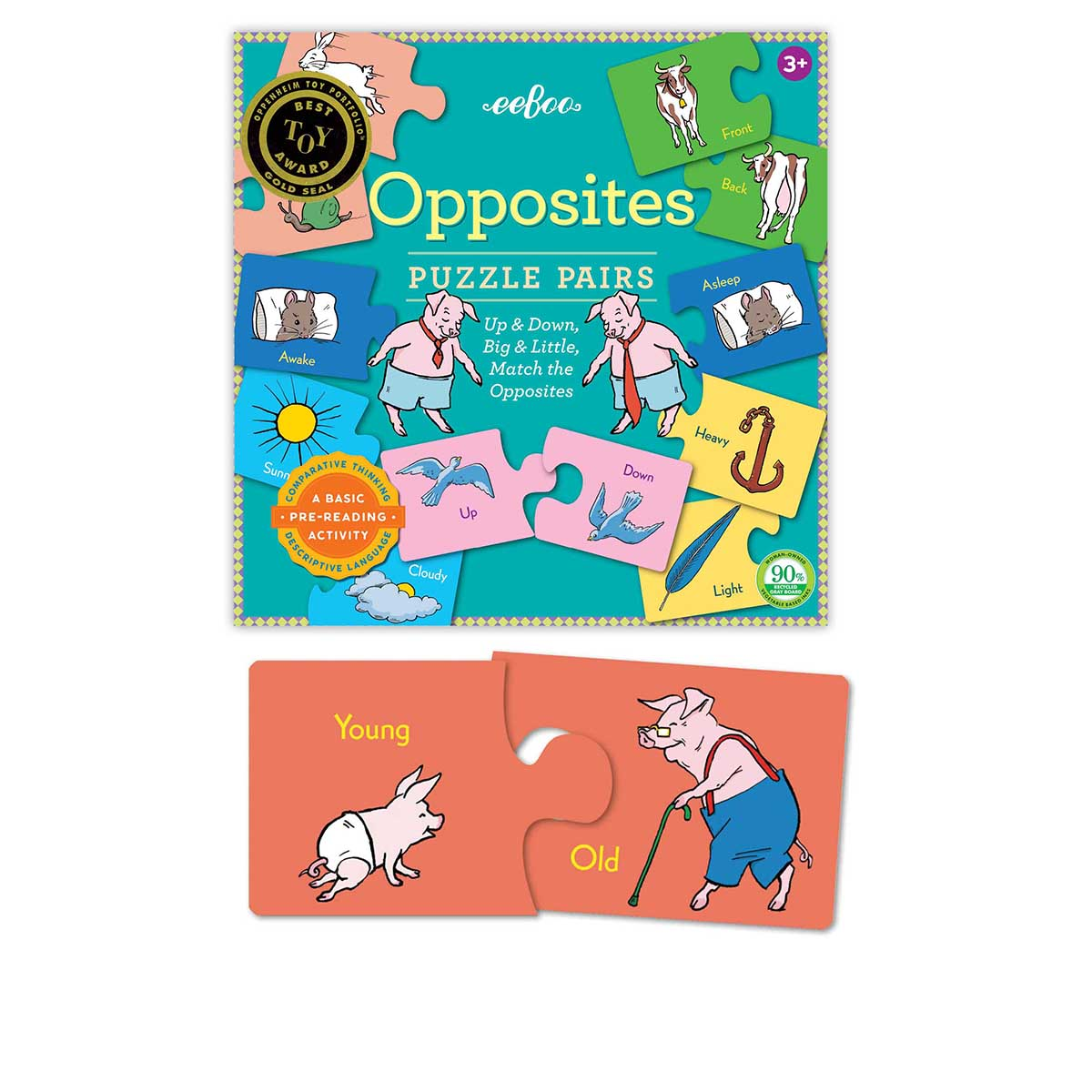Opposites Animals Children's Puzzles