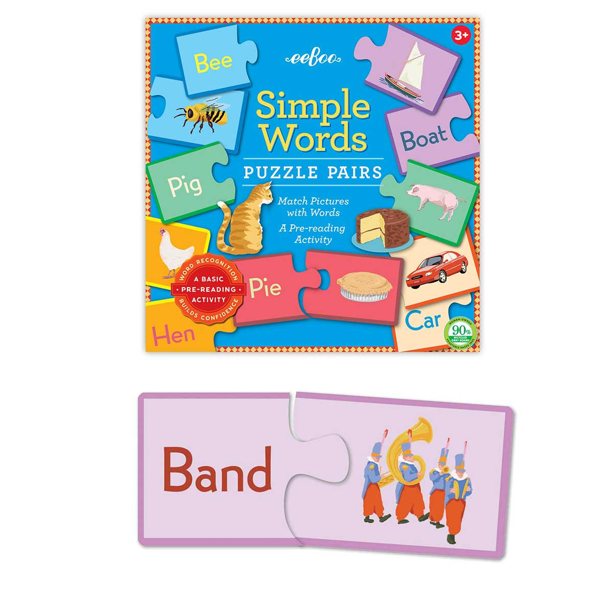 Simple Word Educational Children's Puzzles