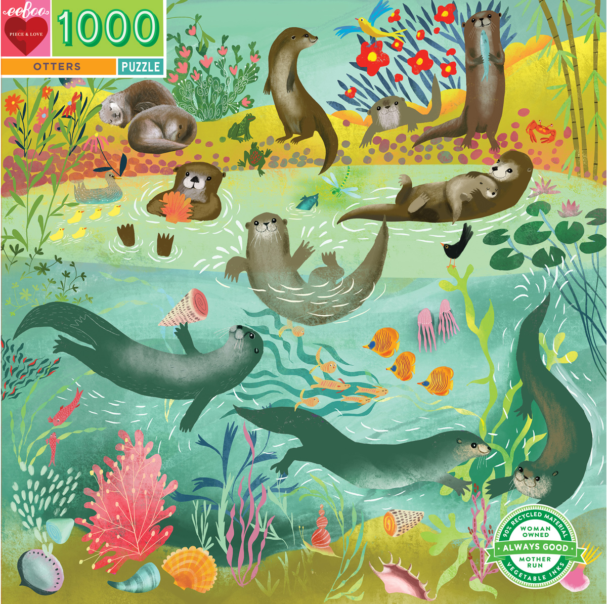 Otters Animals Jigsaw Puzzle