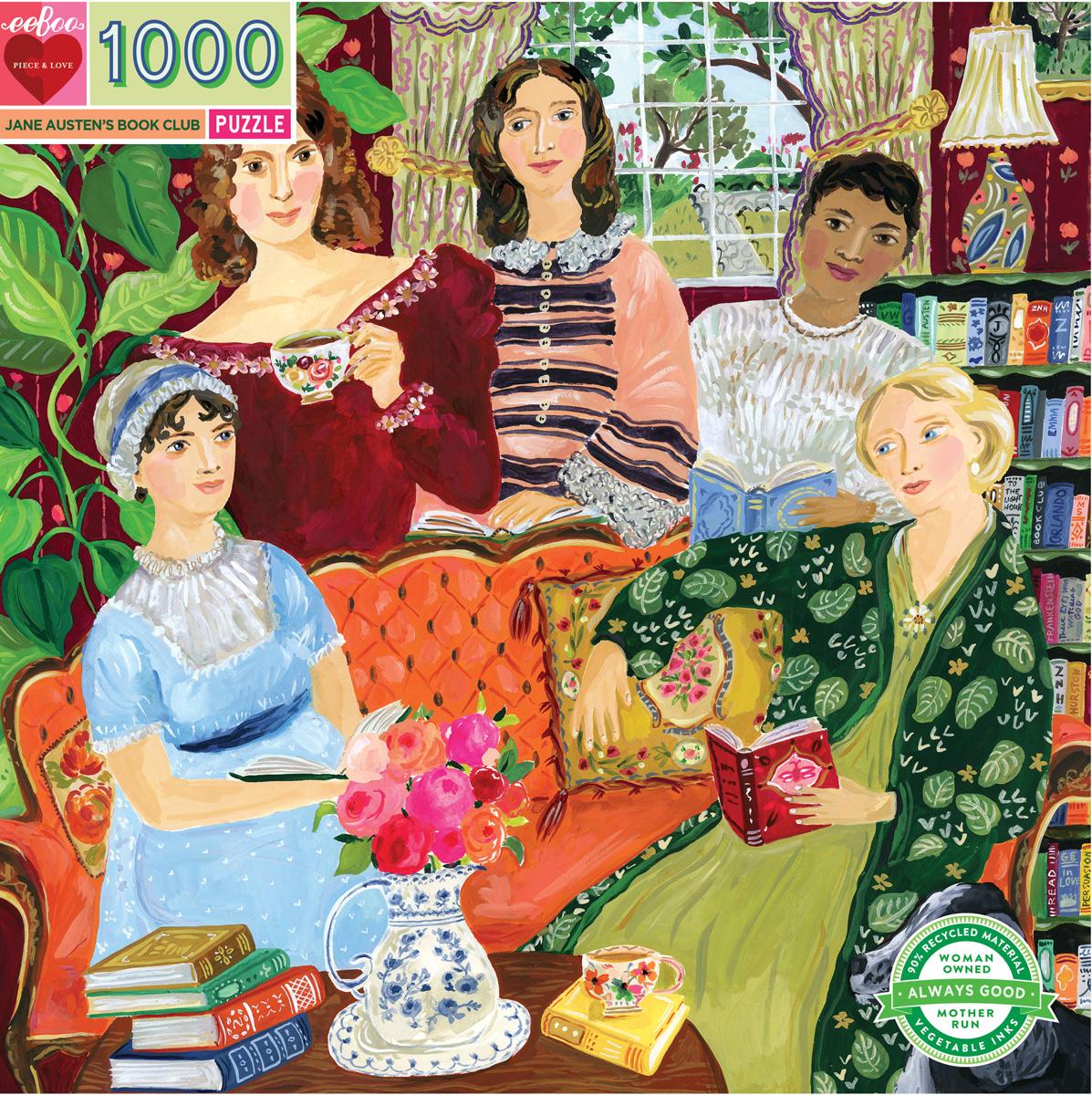 Jane Austen's Book Club People Jigsaw Puzzle