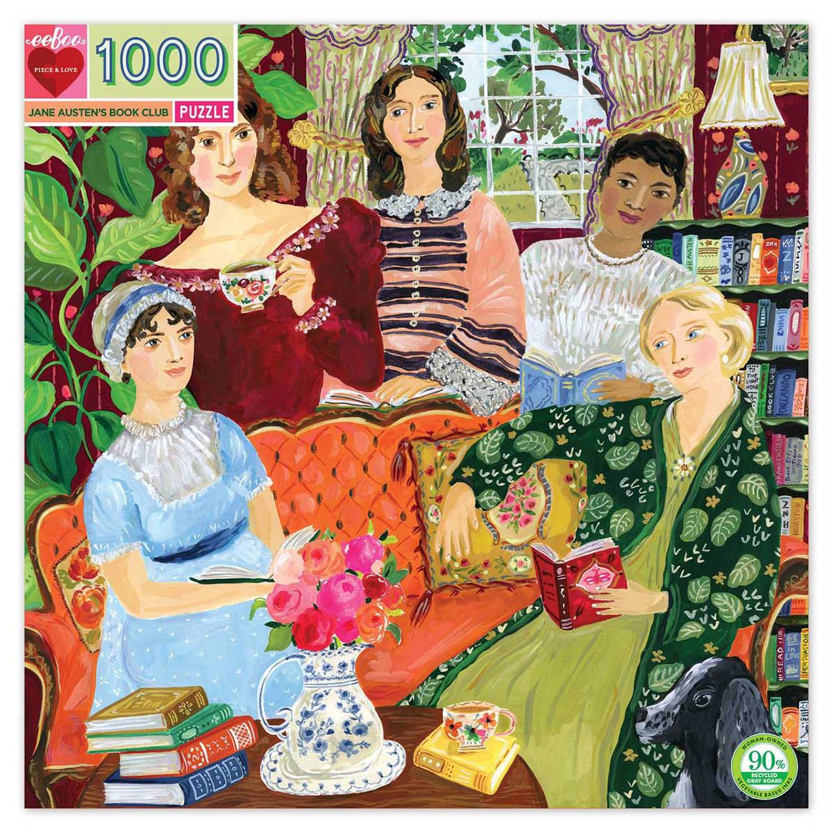 Jane Austen's Book Club People Jigsaw Puzzle