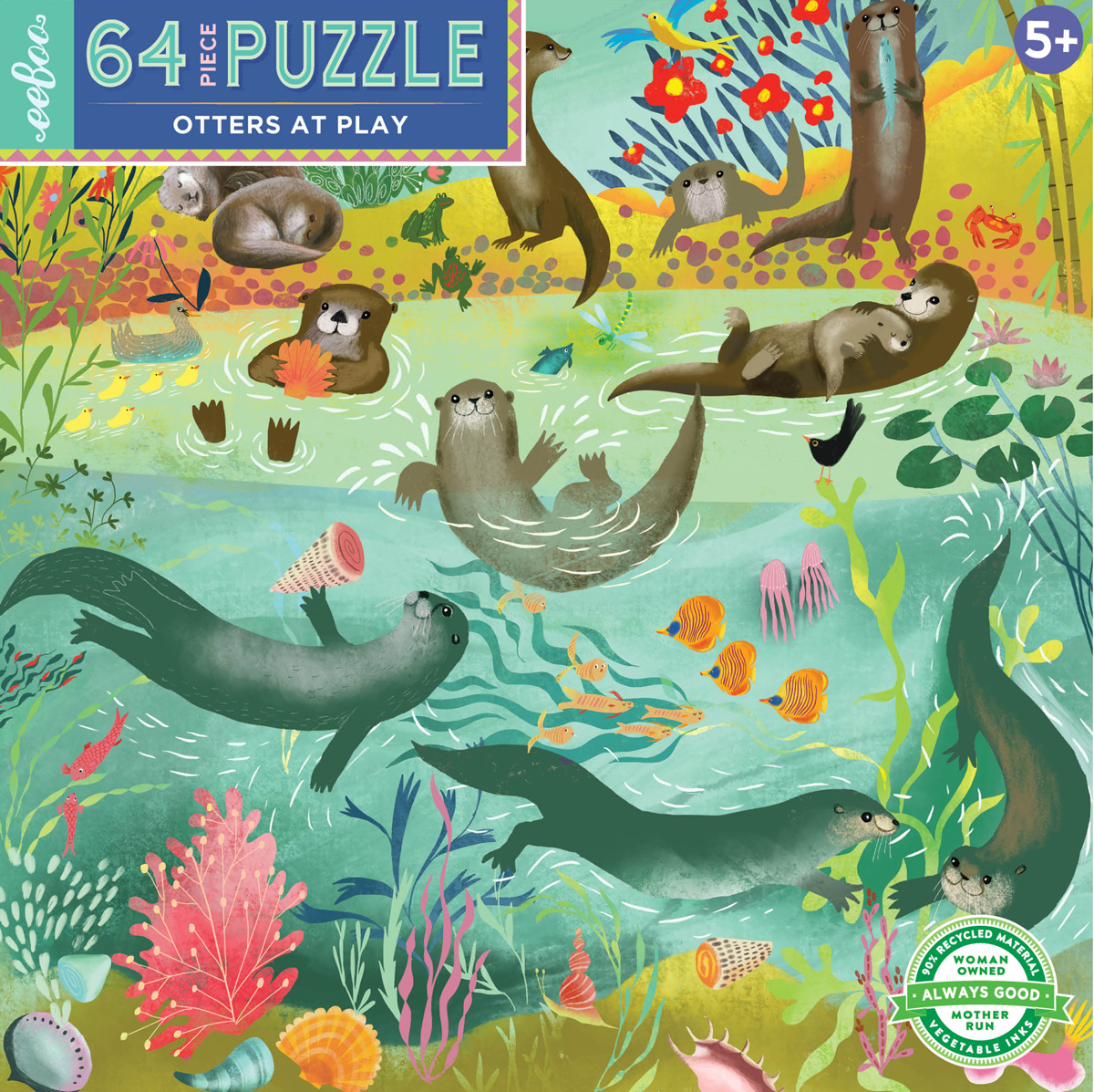Otters at Play Animals Jigsaw Puzzle