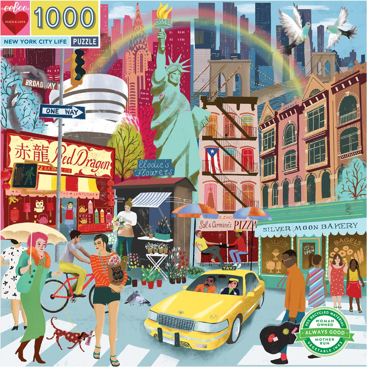 New York City Life New York Jigsaw Puzzle