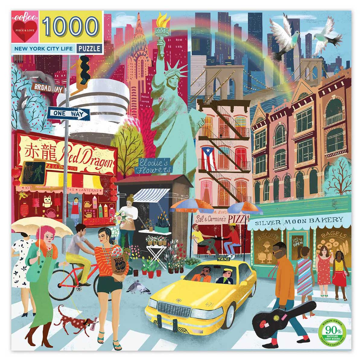 New York City Life New York Jigsaw Puzzle