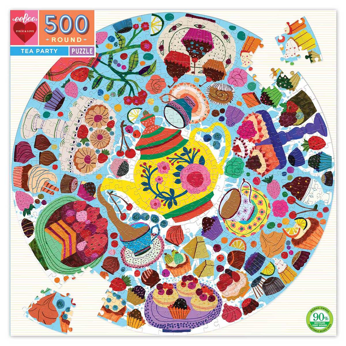 Tea Party Food and Drink Jigsaw Puzzle