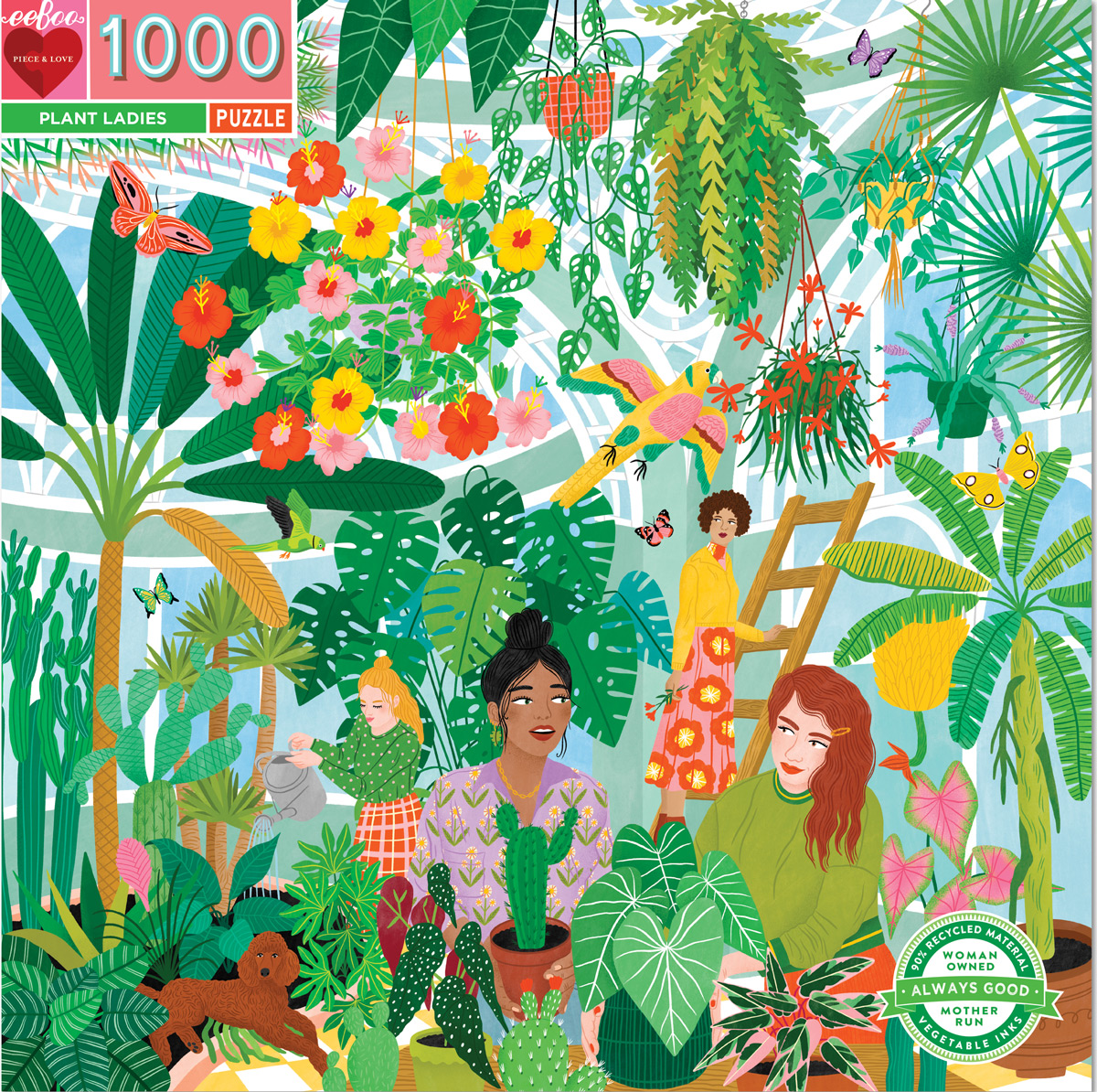 Plant Ladies Flowers Jigsaw Puzzle