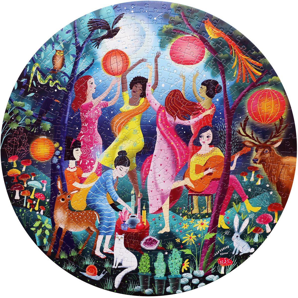 Moon Dance Forest Jigsaw Puzzle
