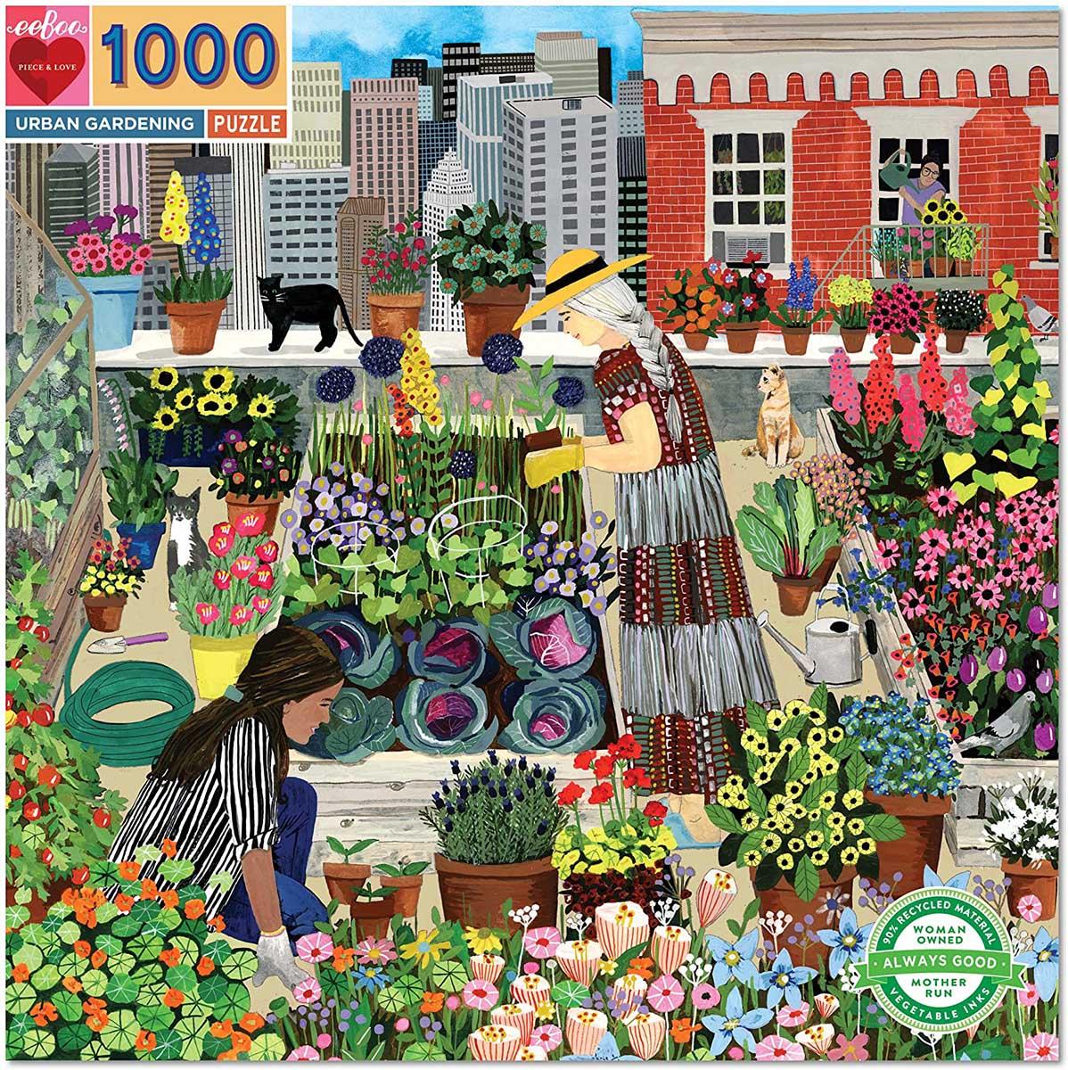 Urban Gardening Street Scene Jigsaw Puzzle