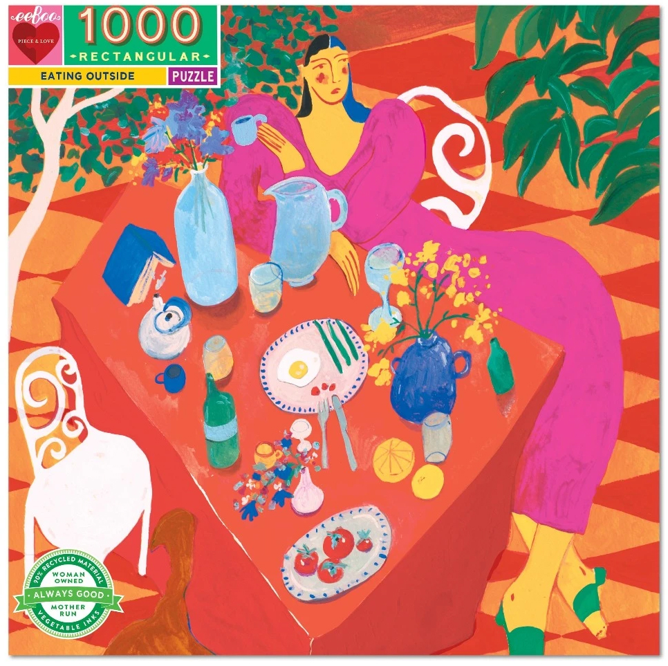 Eating Outside People Jigsaw Puzzle