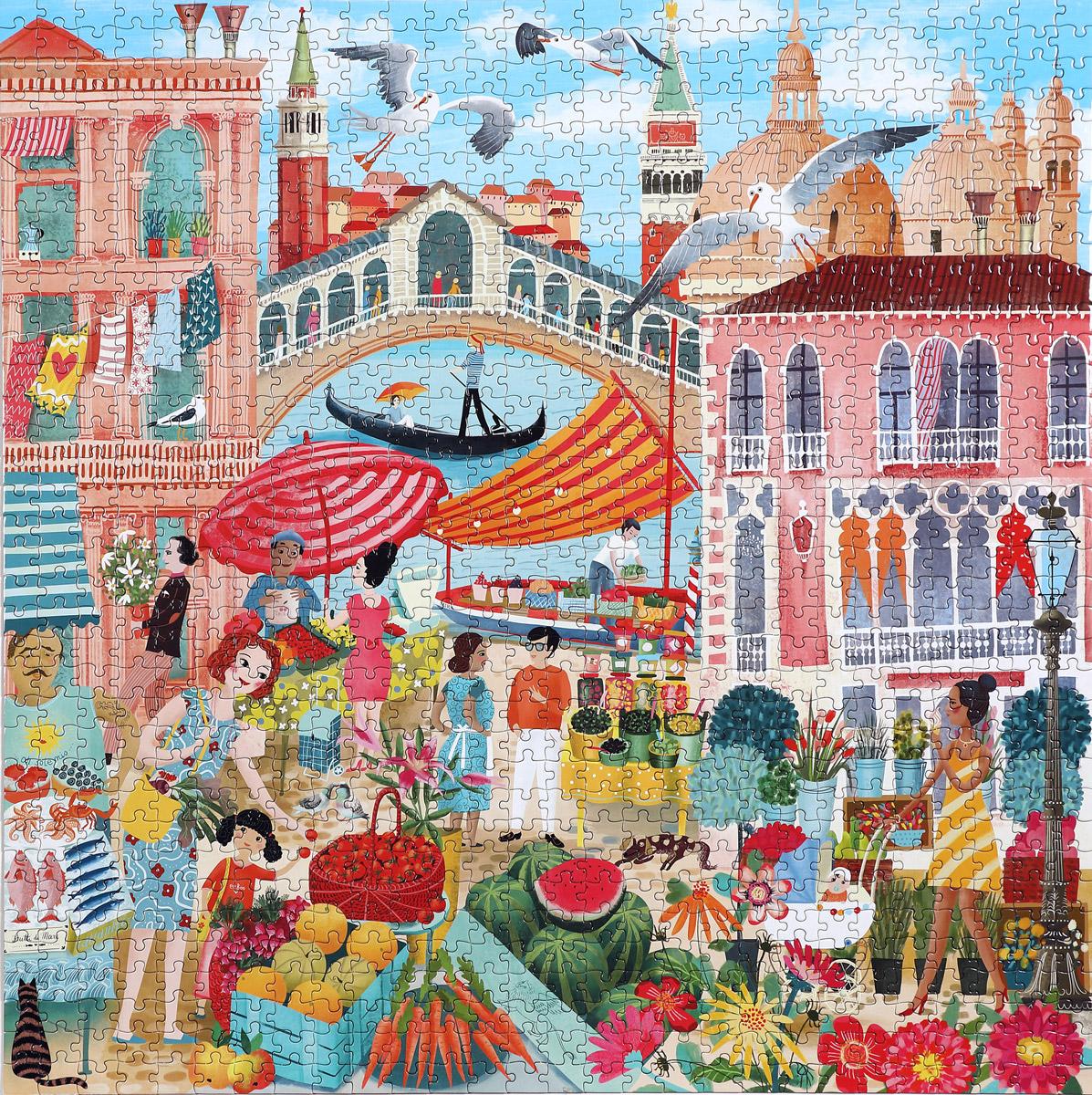 Venice Open Market Italy Jigsaw Puzzle