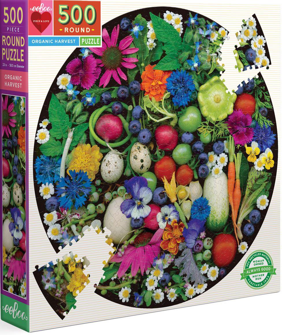 Organic Harvest Flowers Shaped Puzzle