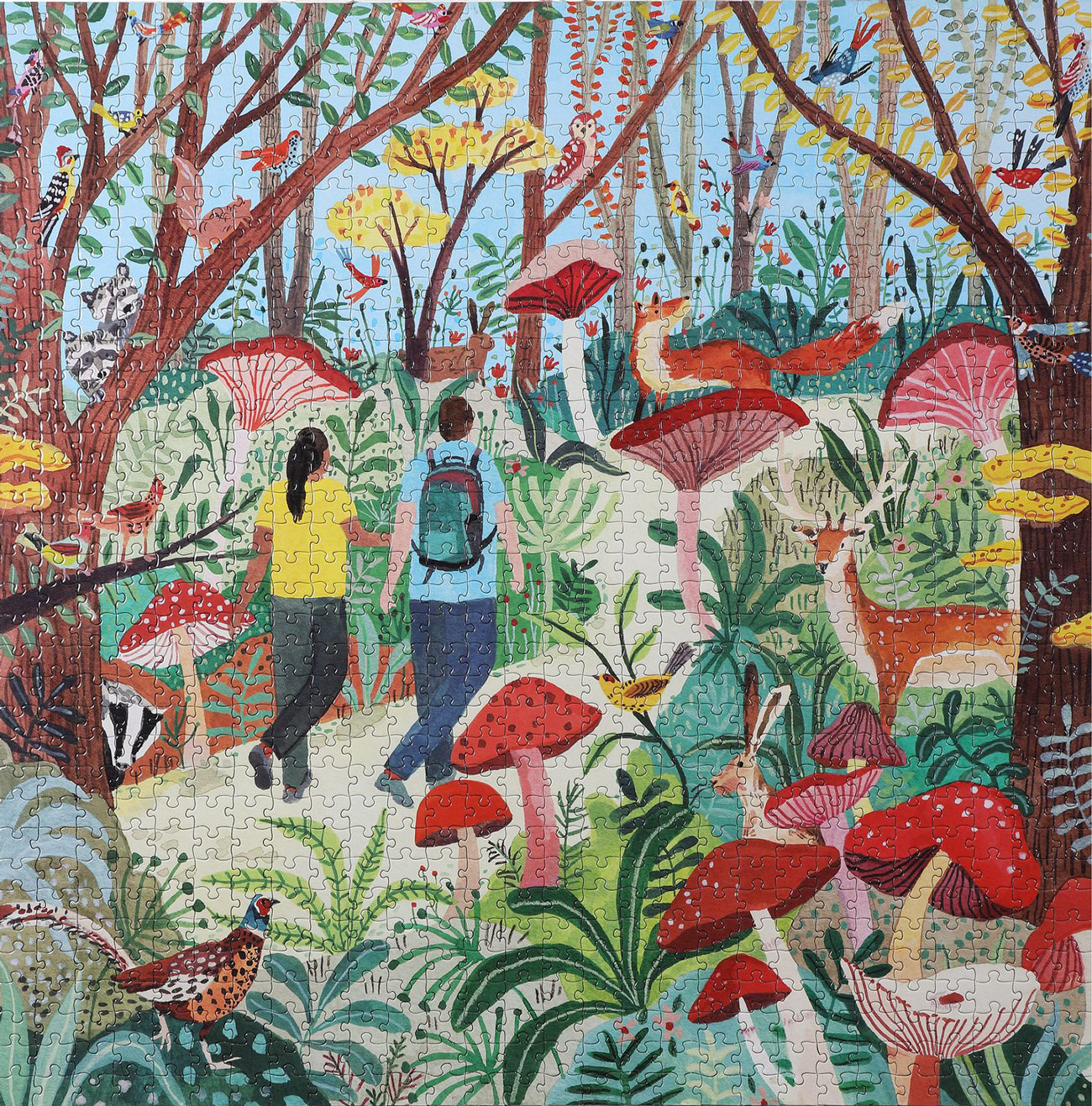 Hike in the Woods Forest Jigsaw Puzzle
