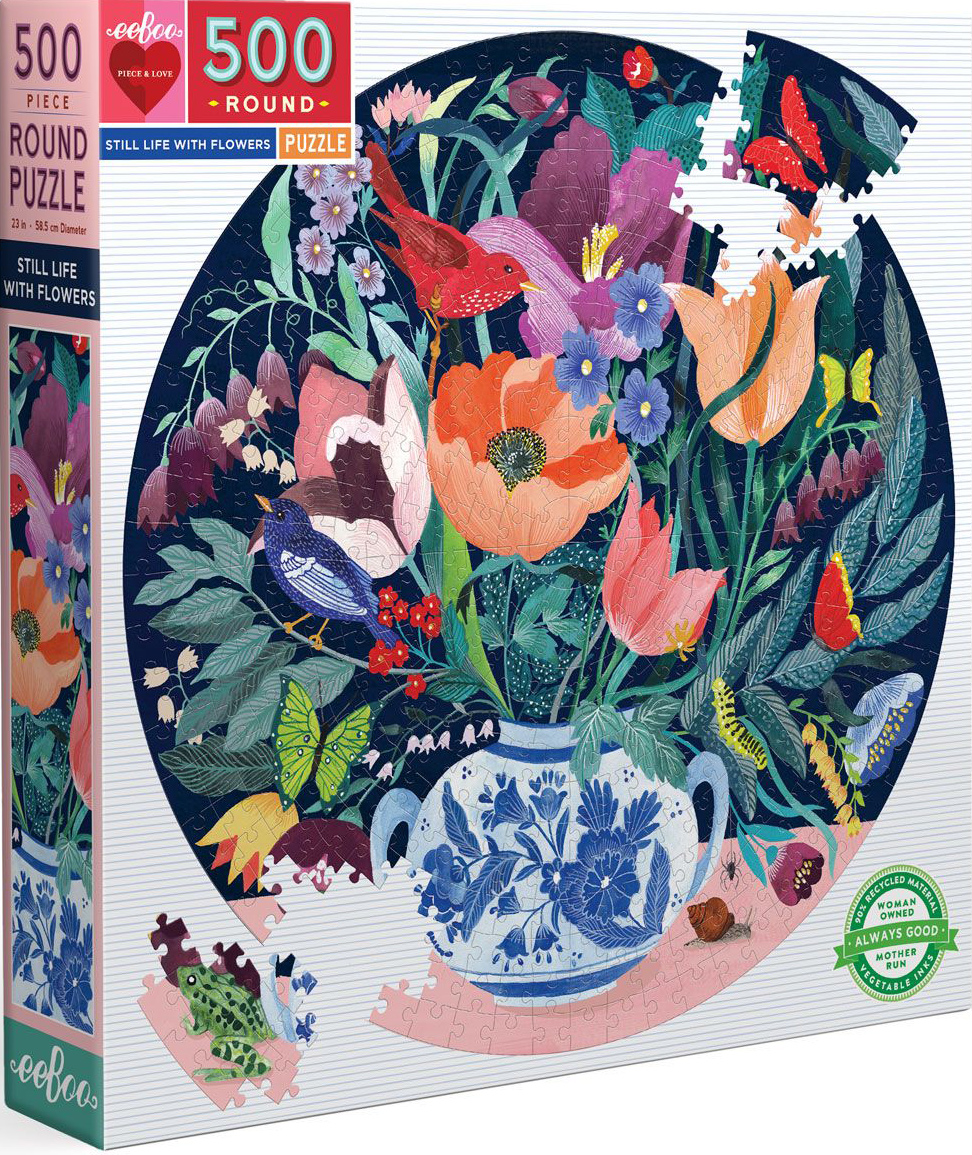 Still Life With Flowers Birds Jigsaw Puzzle