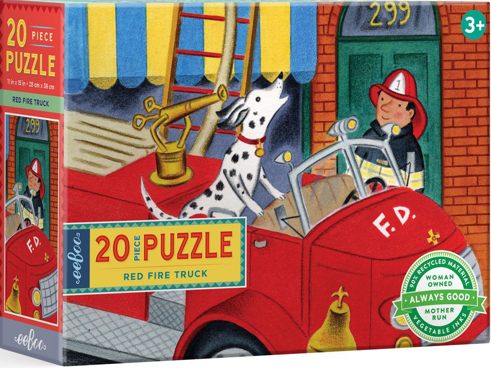 Red Fire Truck Vehicles Jigsaw Puzzle