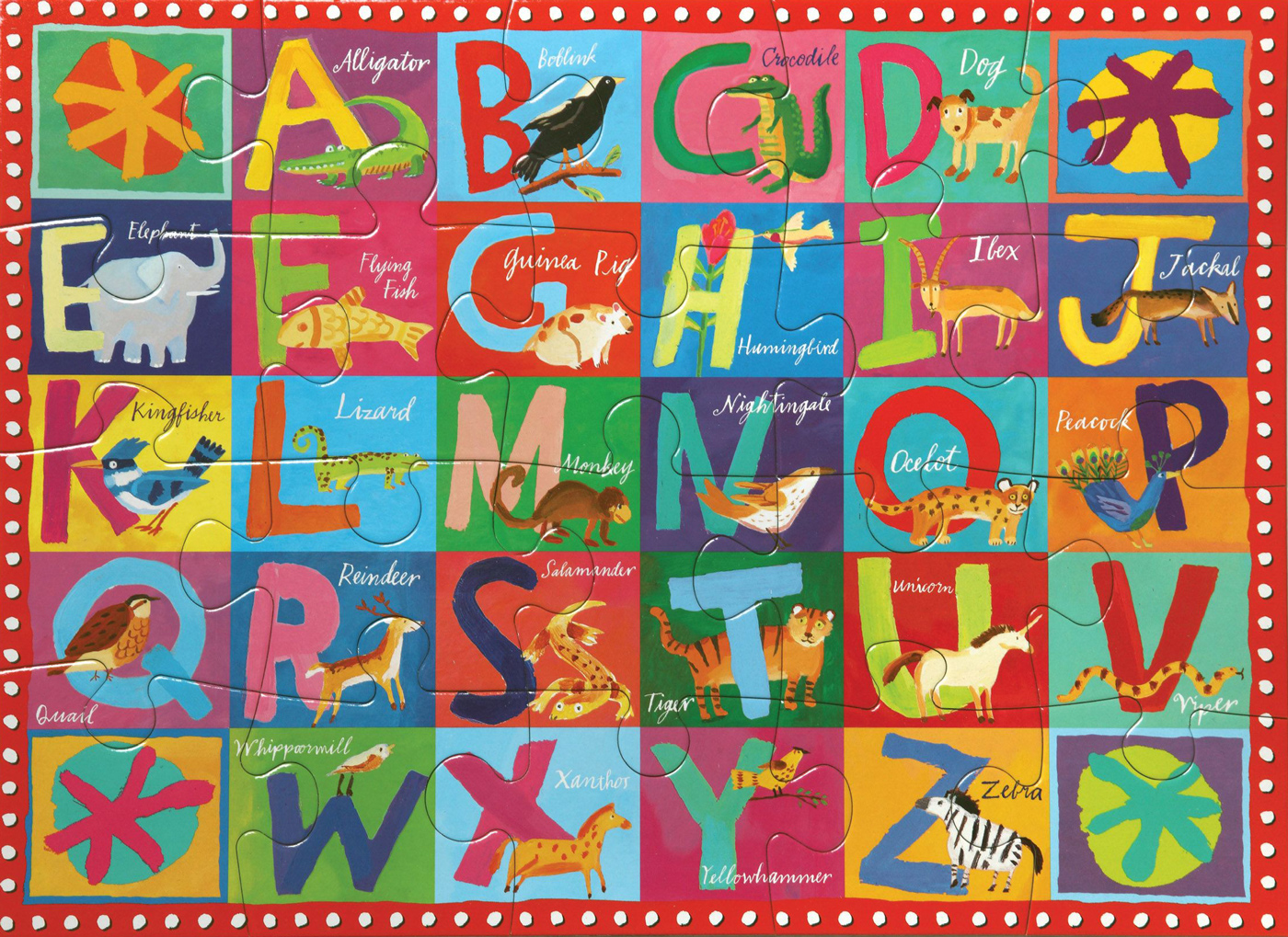 Animal ABC Educational Jigsaw Puzzle