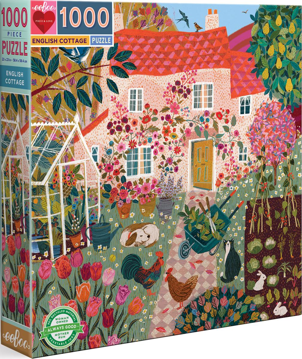 English Cottage Domestic Scene Jigsaw Puzzle
