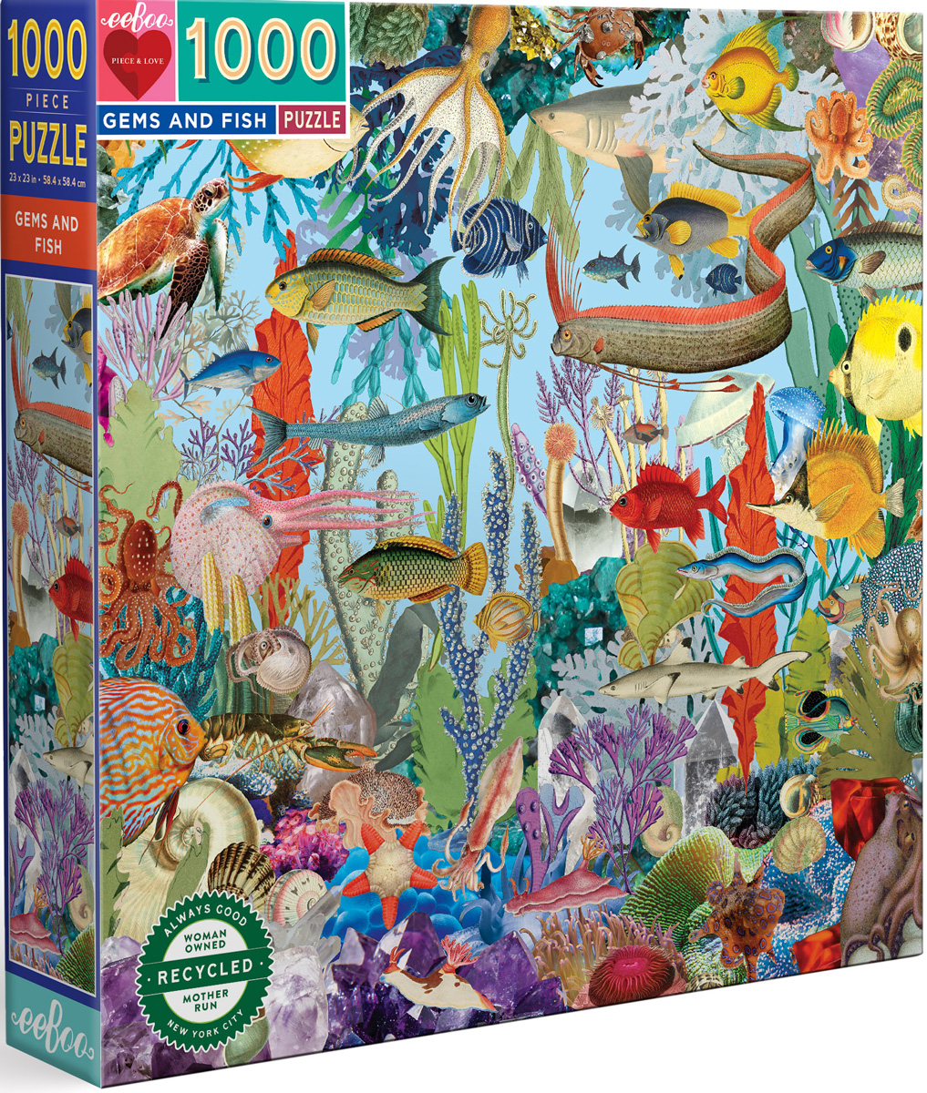 Gems and Fish Under The Sea Jigsaw Puzzle
