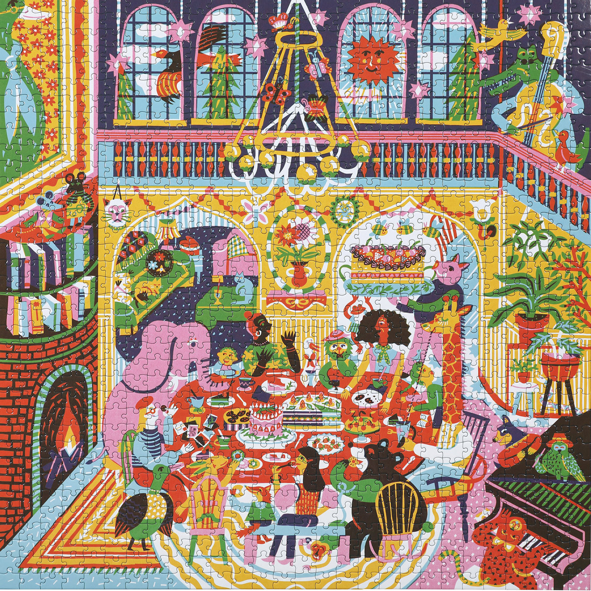 Family Dinner Night Food and Drink Jigsaw Puzzle
