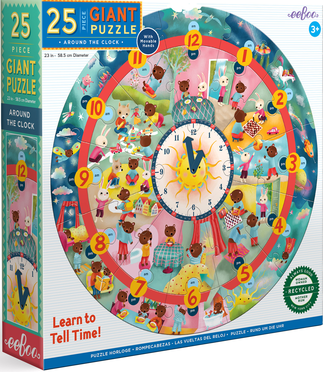 Around the Clock Puzzle Educational Jigsaw Puzzle