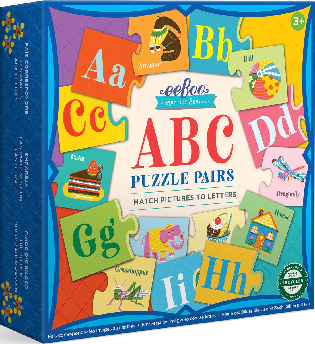 Artist's Puzzle Pair ABC Educational Jigsaw Puzzle