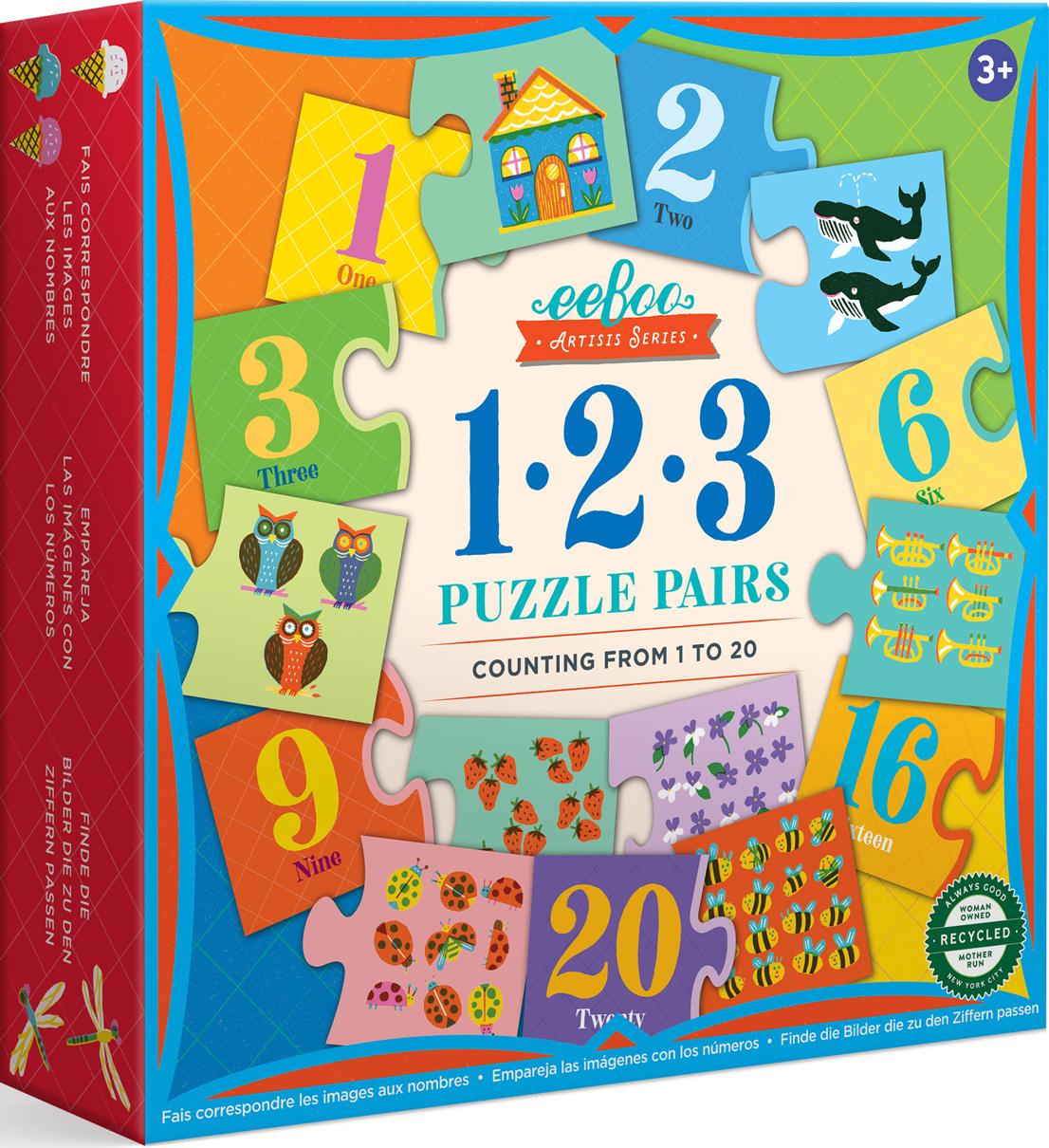 Artist's Puzzle Pair 1-2-3 Educational Jigsaw Puzzle