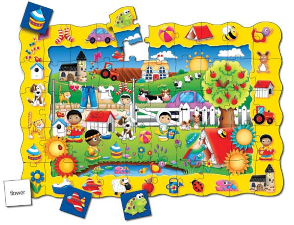 Puzzle Doubles Find It! Friends Cartoons Floor Puzzle