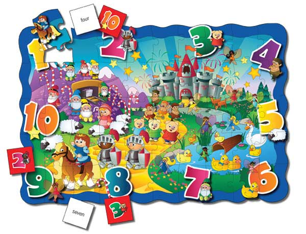 Puzzle Doubles Find It! 123 Educational Floor Puzzle