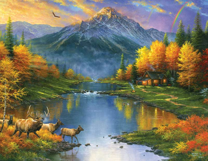 Mountain Retreat Fall Jigsaw Puzzle