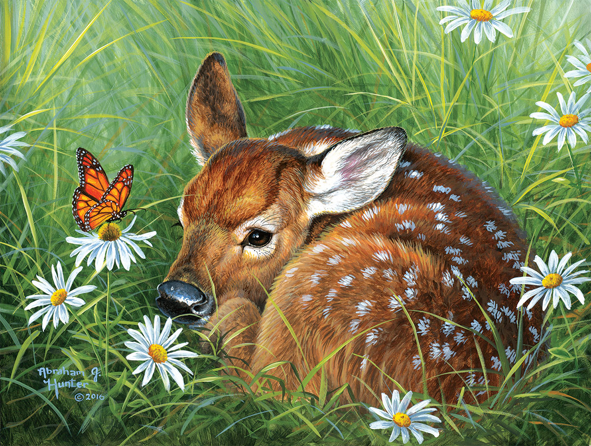 Natural Tranquility Animals Jigsaw Puzzle