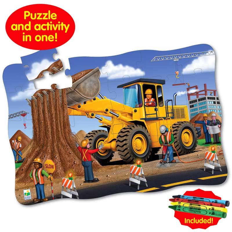 Puzzle Doubles Giant Dirt Digger Construction Floor Puzzle
