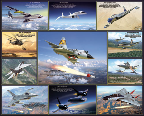 Legendary Aircraft Planes Jigsaw Puzzle