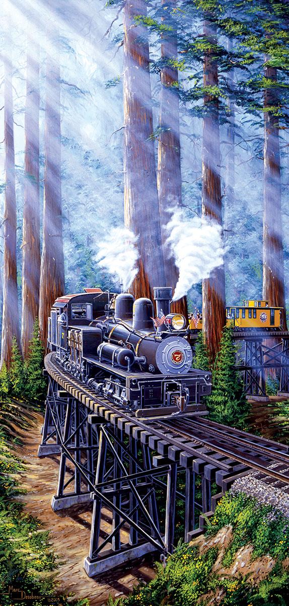 Redwood Sidewinder Trains Jigsaw Puzzle