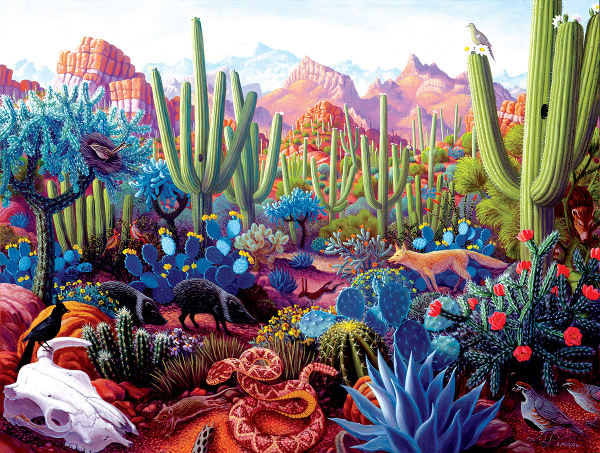 Cactusland - Scratch and Dent Flowers Jigsaw Puzzle