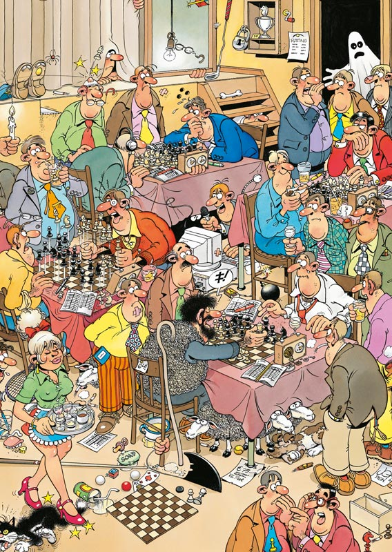 Chess Club Cartoons Jigsaw Puzzle