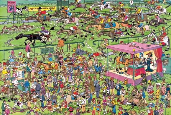 Ascot Horse Racing - 1500 Horses Jigsaw Puzzle
