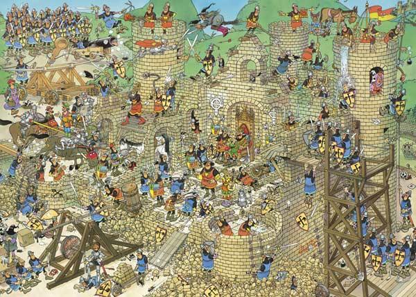 Castle Conflict - 1000 Castles Jigsaw Puzzle