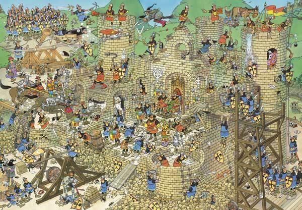 Castle Conflict - 2000 Castles Jigsaw Puzzle