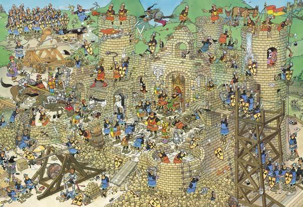 Castle Conflict - 5000 Castles Jigsaw Puzzle
