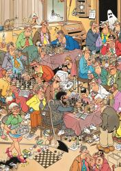 The Chess Club - 500pc Cartoons Jigsaw Puzzle