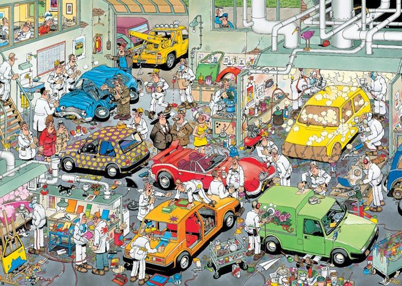 Car Paint Shop - 500pc Cartoons Jigsaw Puzzle