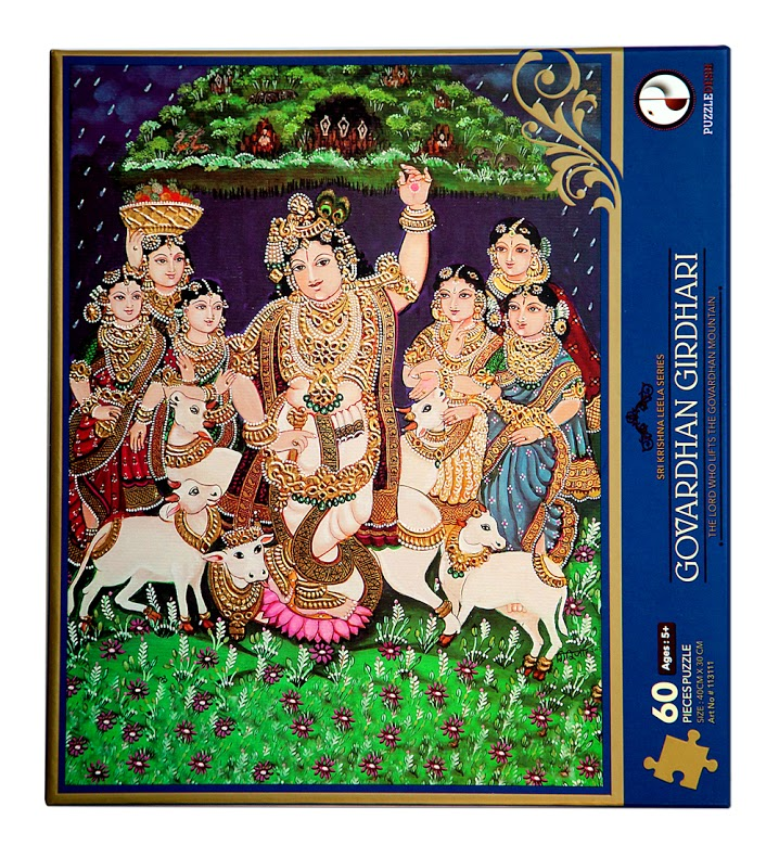 Govardhan Girdhari Puzzle (Sri Krishna Leela Series) Cultural Art Jigsaw Puzzle