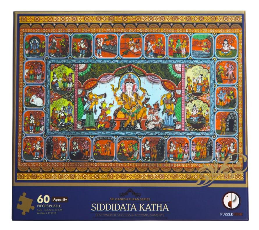 Siddidata Katha Puzzle (Sri Ganesh Puran Series) Cultural Art Jigsaw Puzzle