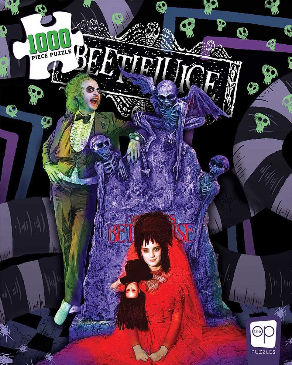 "Beetlejuice ""Graveyard Wedding"" Halloween Jigsaw Puzzle"